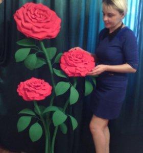 Розы Огромные, разборные, Ручная работа!