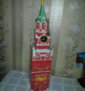 Кремлевская башня 50см , картон , 2003г