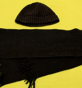 Шарф и шапка шерстяные
