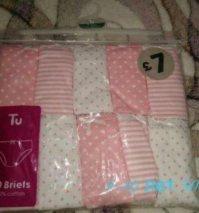 Трусики для девочки 9-10 лет (10 штук), новые