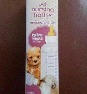 Бутылочка Hartz с соской для котят и щенков