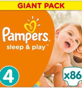Подгузники Pampers Sleep & Play 4, 8-14 кг, 86 шт.