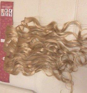 Волосы на заколках, новые, локоны, трессы