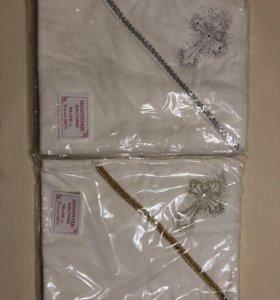 Полотенце уголок для крещения (90*110) махра