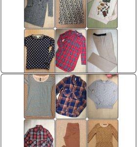 Одежда пакетом (12 единиц) Пальто, джемпера..42-44