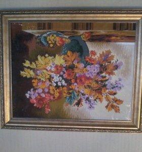 картина осенний букет алмазная живопись