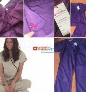 Женский стильный медицинский комплект фиолетовый