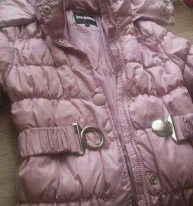 2 пальто зима 140 и куртка