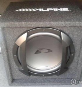 Сабвуфер Alpine SBE-1044BR (черный)