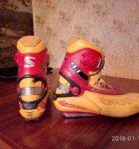лыжные ботинки б/у Соломон