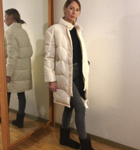 Куртка зимняя парка длинная белая новая