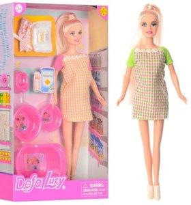 Кукла 29см БЕРЕМЕННАЯ с аксес. 8350 в коробке 2 ви