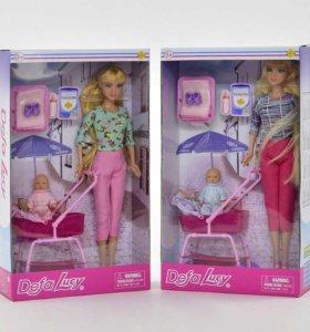 Куклы 2ШТ. с аксес. 8358 в коробке 2 вида DEFA Цен