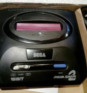 Приставка Sega mega drive 2 игровая.