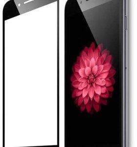 Защитное стекло на iPhone 6,7,8 3D черное