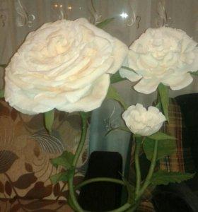 Цветы интерьерные,ручная работа