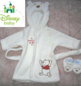 Новый халат и носочки после купания,бренд Disney