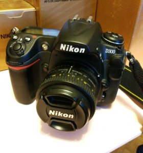 Nikon D300+ 2 объектива, вспышка, сумка, все докум