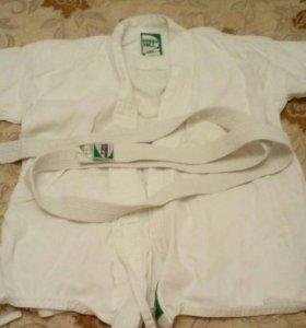 Белое кимоно на рост 120см