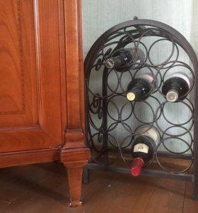 Подставка-стеллаж для хранения вина кованая 11 бут