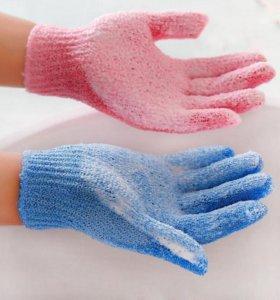 Перчатки-мочалки