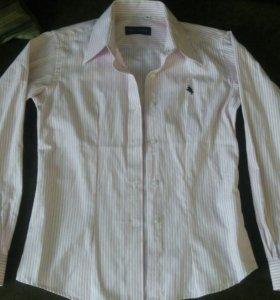 Рубашка женская в розовую полоску