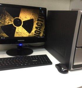 Игровой компьюетр 4 ядра gtx 550ti + ЖК монитор 19