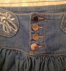 Мини юбка джинсовая новая