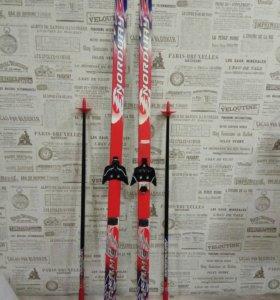 Лыжи 140 см + ботинки 31