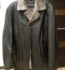 Новая зимняя мужская куртка. Кожа