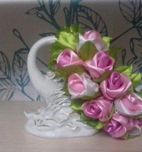 Ободок с чайными розами