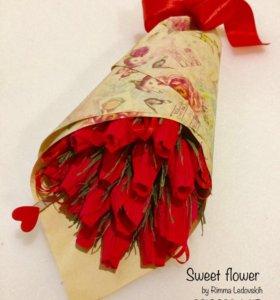 Букет из конфет. Розы