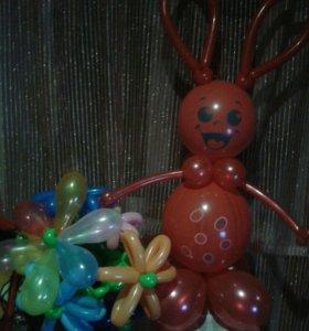 Фигуры из шаров.