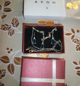 Серьги+ ожерелье