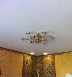 Натяжной потолок белый матовый