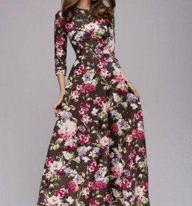 Шикарное длиное платье