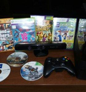 Xbox360+Kinect+7дисков
