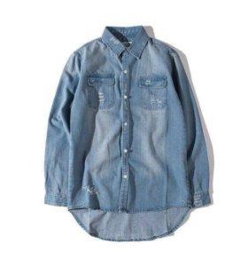 Новая Джинсовая Рубашка 46-48 размер