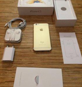 iPhone 6S 16гб Золотой/полный комплект +документы