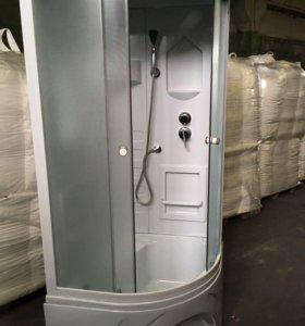 Душевая кабина новая со стеклянными дверьми