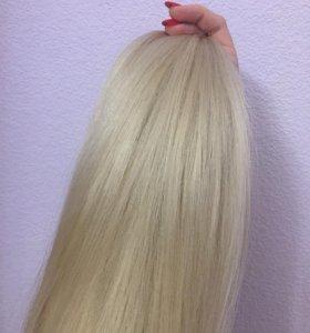 срез волос блонд