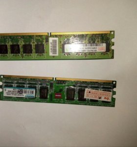 Оперативная память DDR2 2x1gb