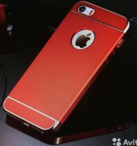 Чехол для iPhone 5 5s SE Красный