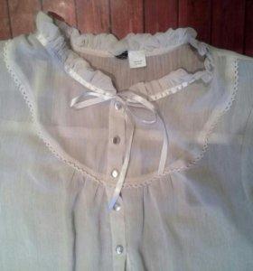 Блуза кремового цвета шифон