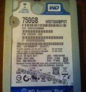 Жесткий диск для ноутбука WD Scorpio Blue