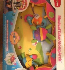 Дуга с игрушками