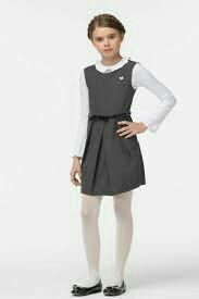 Платье сарафан школьный