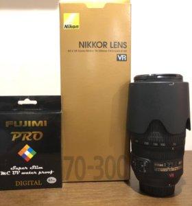 Объектив Nikon AF-S VR ZOOM-NIKKOR 70-300 f/4,5-5,