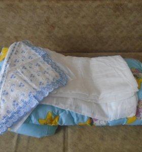 Новое одеяло +пододеяльник (можно на выписку)