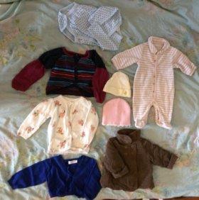 Детская женская одежда +0 -12м